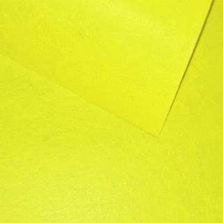 войлок (для рукоделия) лимонный (0,9мм) ш.85