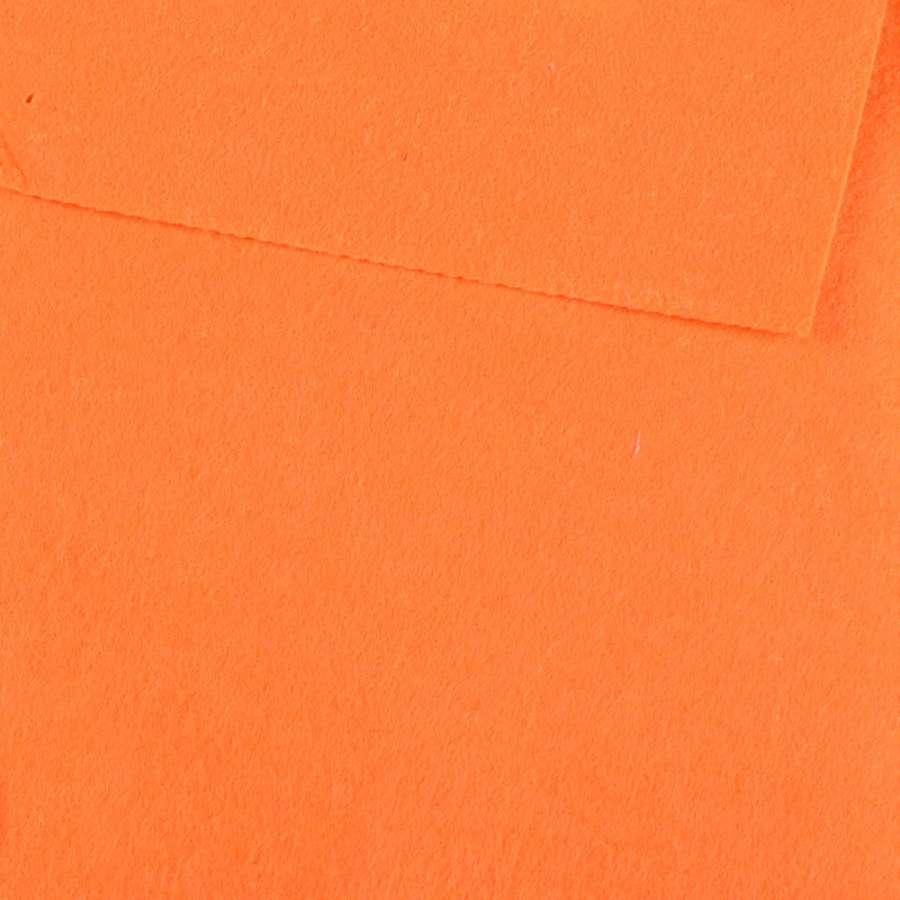 войлок (для рукоделия) оранжевый неоновый (0,9мм) ш.85