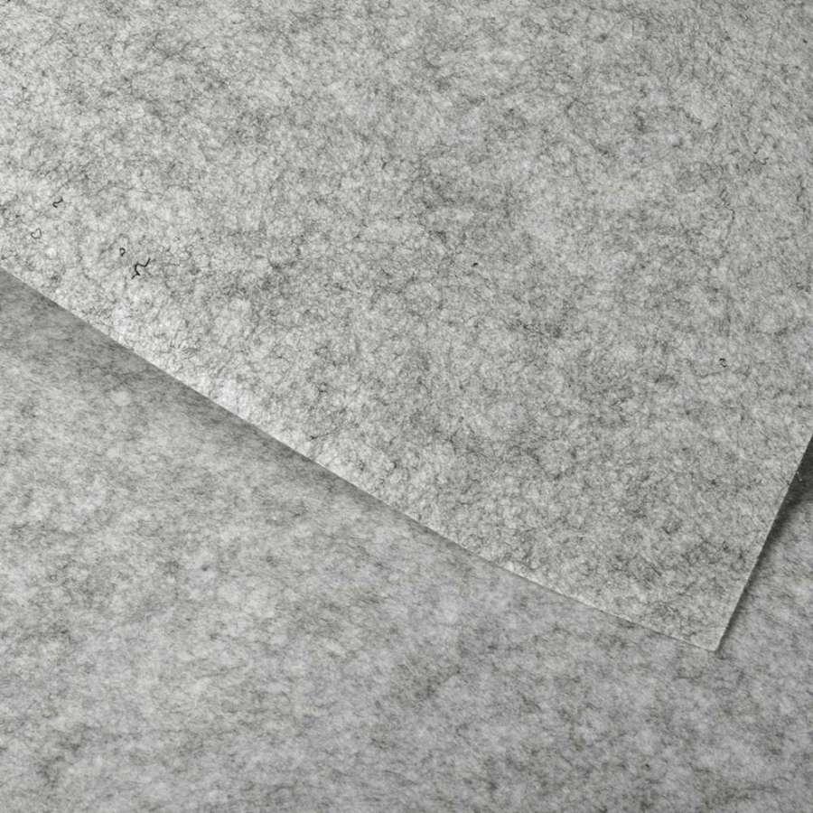 войлок (для рукоделия) серый светлый меланж (0,9мм) ш.85