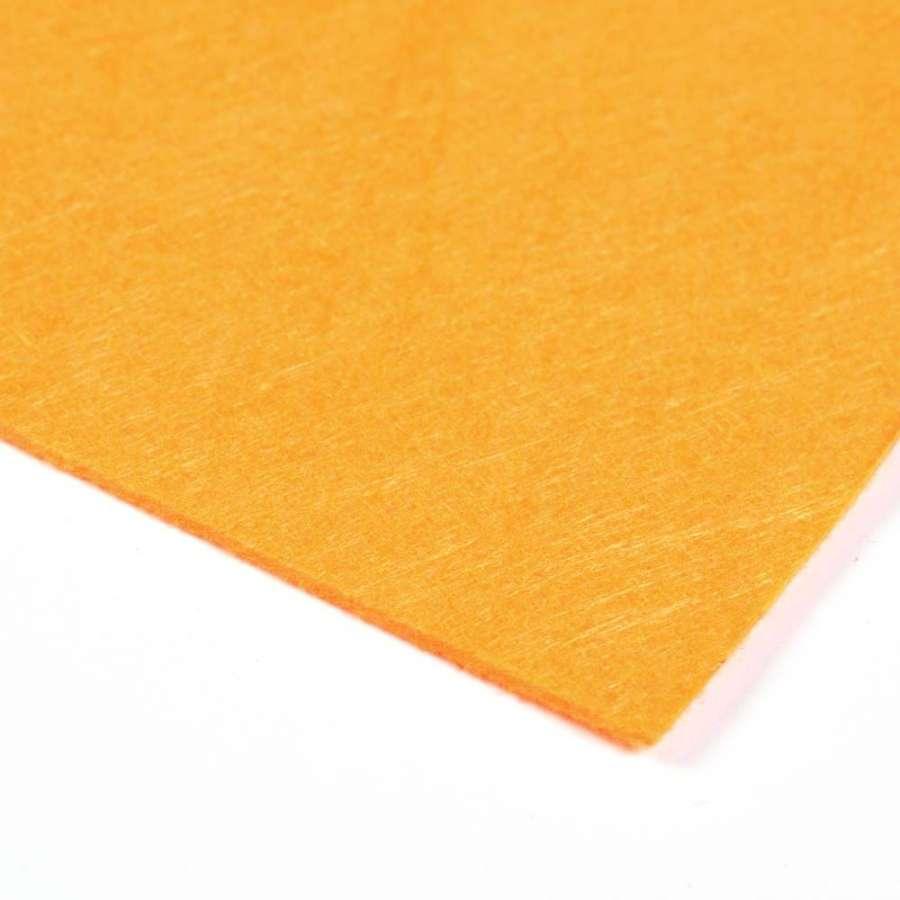 Войлок синтетический для рукоделия (0,9мм) оранжевый ш.150