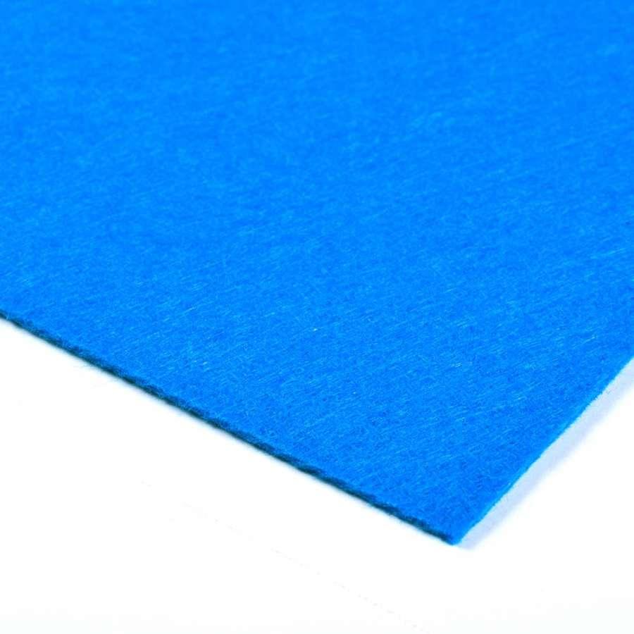 Войлок синтетический для рукоделия (0,9мм) синий ш.150