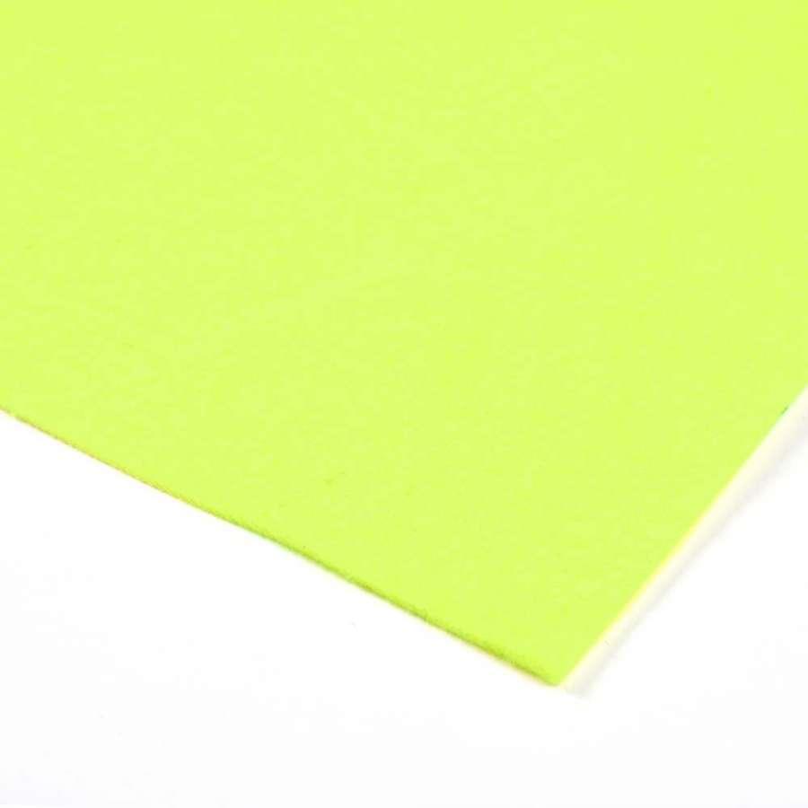 Войлок синтетический для рукоделия (0,9мм) желтый неоновый ш.150
