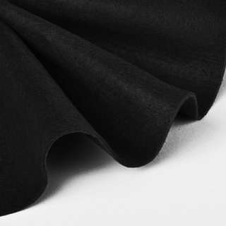 Повсть синтетична для рукоділля м'яка (2 мм) чорна, ш.85