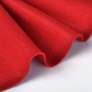 Войлок синтетический для рукоделия мягкий (2мм) красный, ш.85