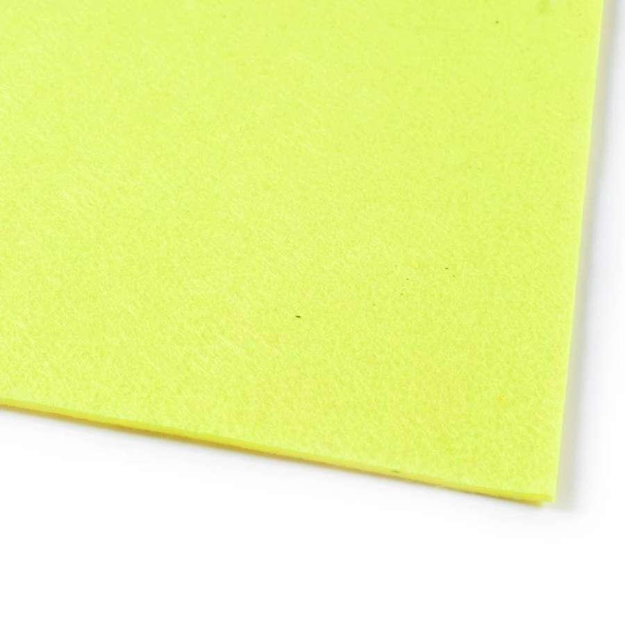 войлок (для рукоделия) лимонный (2мм) ш.100