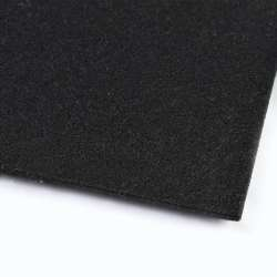Повсть синтетична для рукоділля чорна (3 мм) ш.100