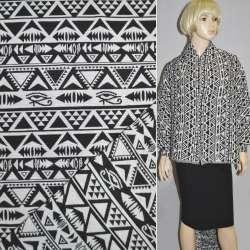 Гобелен черно-белые полоски с геометрич. рисунком ш.155