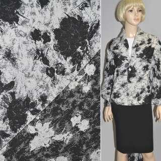 гобелен білий з чорними кольорами ш.150