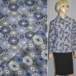 Гобелен в серо-голубые и белые одуванчики ш.155