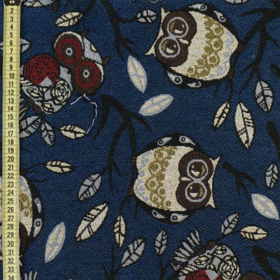 Гобелен совы на синем фоне ш.150