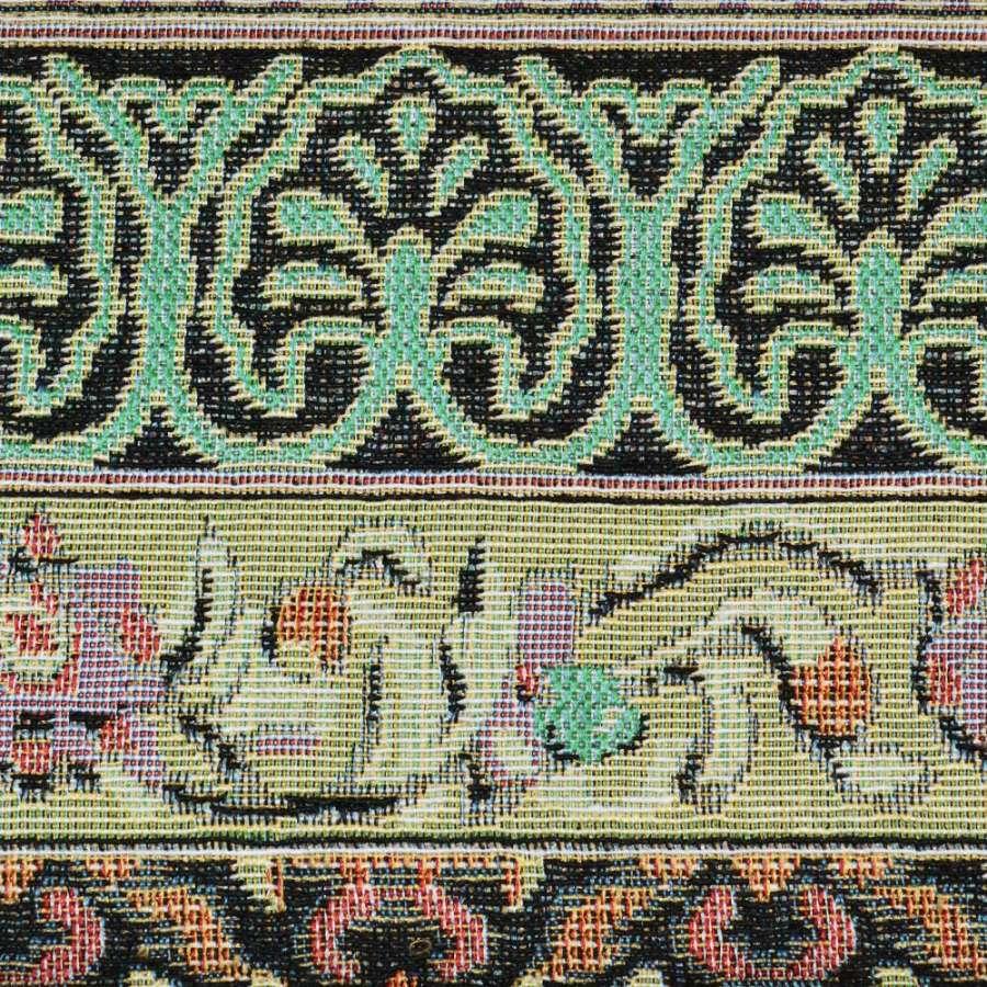 гобелен в песочно-черные полосы с орнаментом ш.150