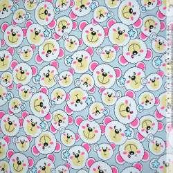 Ткань мебельная св.-серая с белыми мишками ш.150