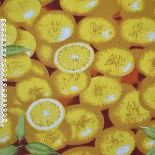 """тк. мебельная желто-коричневая с """"лимонами"""" ш.150"""