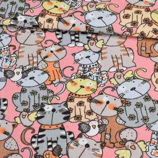 Деко-котон коти на рожевому тлі, ш.150