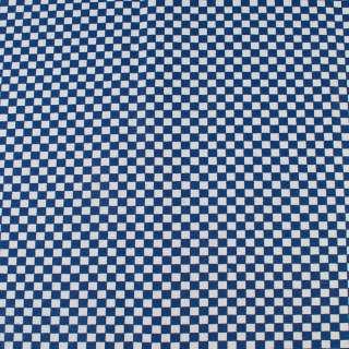 Деко-коттон сине-белая шахматка 6мм, ш.150
