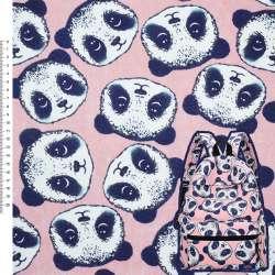 Деко-коттон розовый Панда ш.150