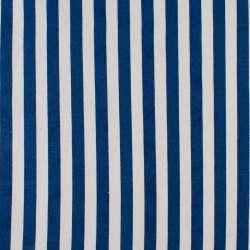 Деко-коттон сине-белые полоски ш.150