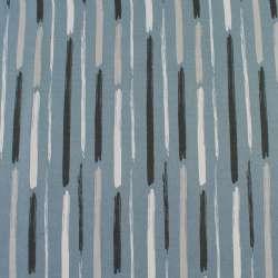 Деко-коттон серый в белые,серые широкие штрихи, ш.150