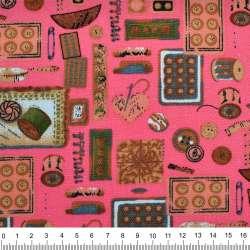 """Деко-коттон розовый """"рукодельница"""" ш.150"""