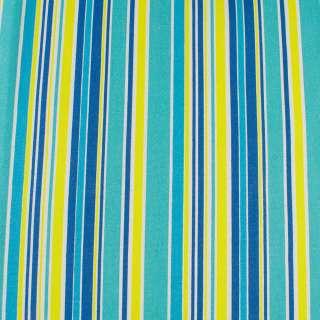 Деко-коттон желто-голубые, сине-белые полоски ш.150
