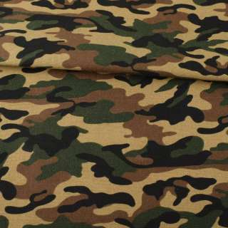 Деко-коттон камуфляж, бежево-коричнево-зеленый, ш.150