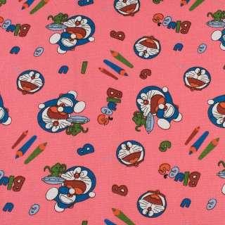 Деко-котон рожевий, кіт Дораемон, олівці, ш.150
