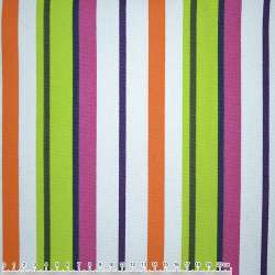 ткань мебел. салат-малин.+оранж-белые полоски ш.150
