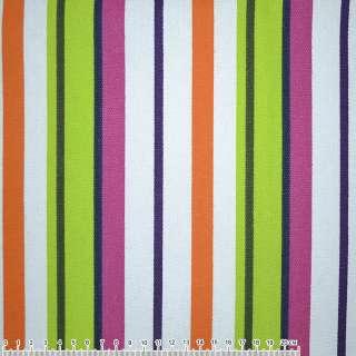 тканину мебел. салат-малин. + оранж-білі смужки ш.150