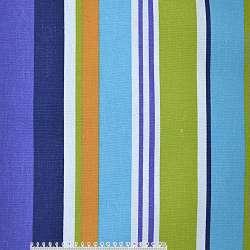 ткань мебел. фиолет.+сине-голуб+желто-белые широк. полоски ш.150