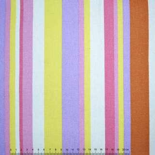 ткань мебел. желто-сиренев+розово-белые полоски ш.150