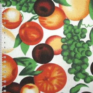 тканину мебел. біла з фруктами ш.150