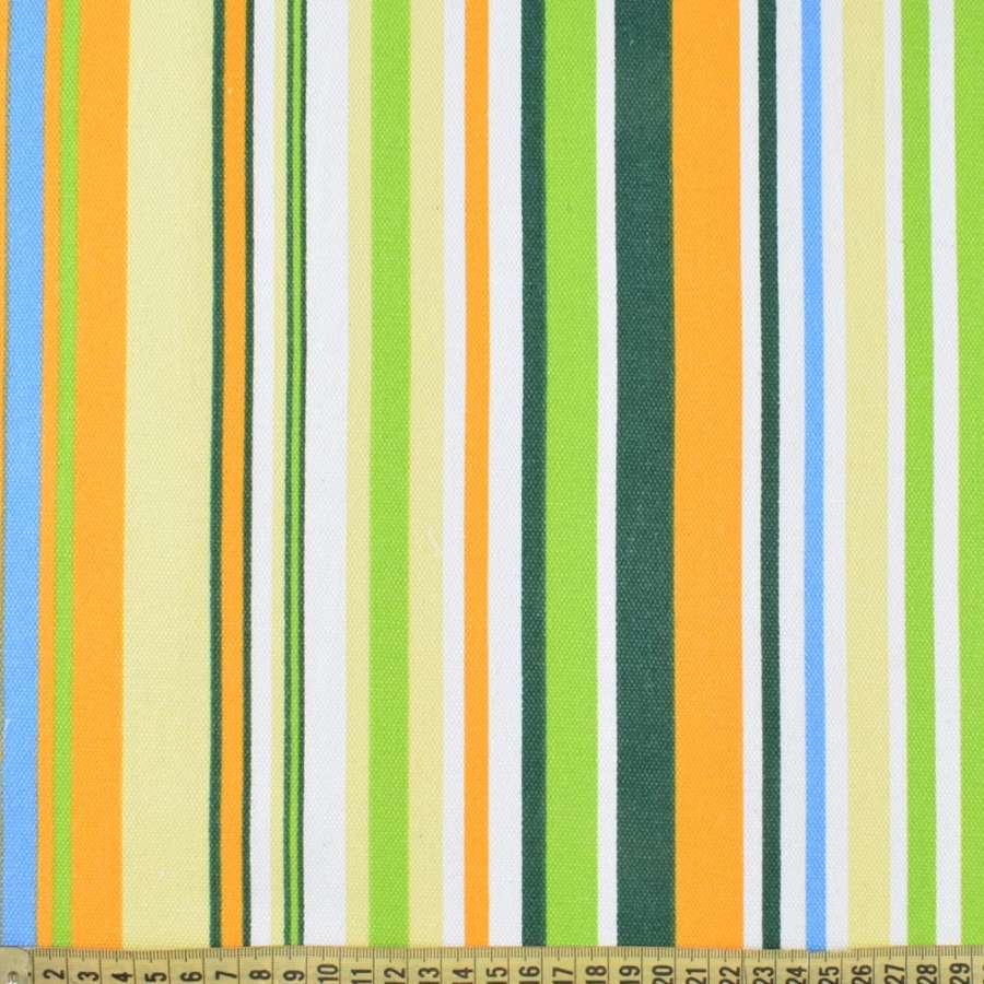 ткань мебел. желто-зеленые+бело-голубые полоски ш.150
