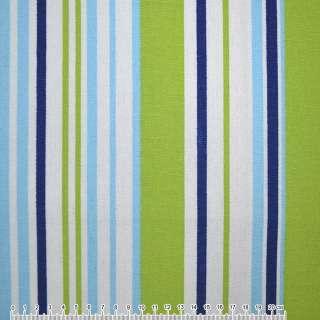тканину мебел. салат-голуб + синьо-білі смужки ш.150
