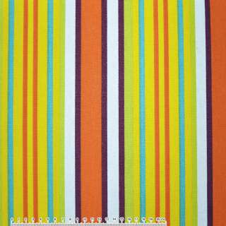 тканину мебел. салат-жовті + оранж-білі смужки ш.150