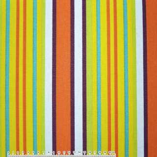 ткань мебел. салат-желтые+ оранж-белые полоски ш.150