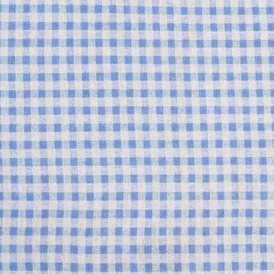 Деко-лен серый в голубую клетку, ш.155