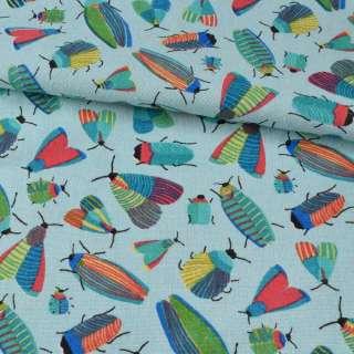 Деко-льон блакитний, різнокольорові комахи, ш.150