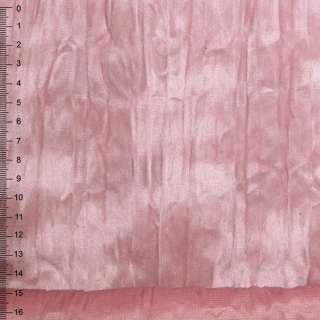 замша дымчато-розовая жатая