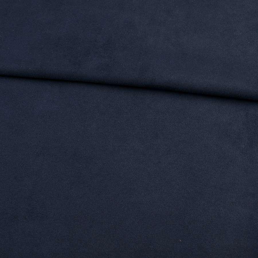 Замша на дайвинге синяя темная, ш.152