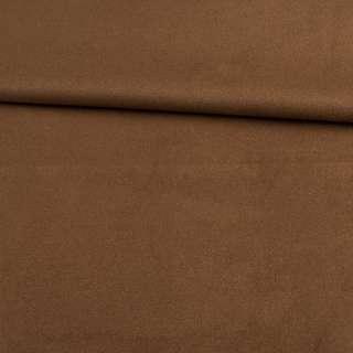 Замша на дайвинге коричневая темная, ш.153