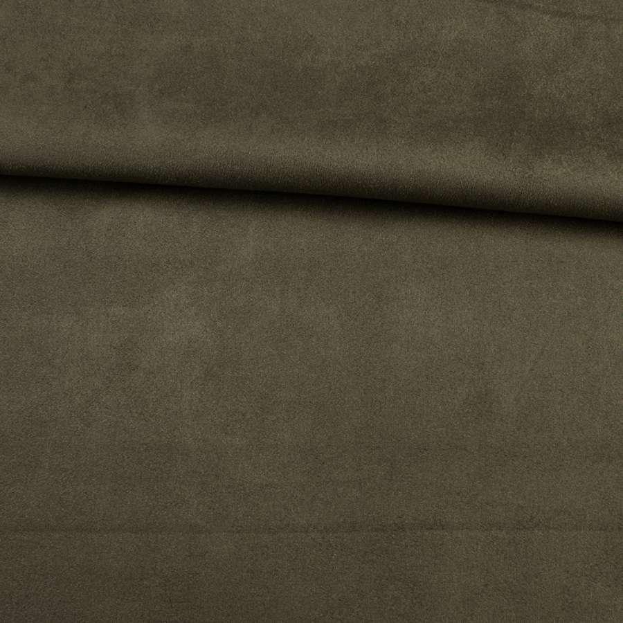 Замша на дайвинге оливковая, ш.160