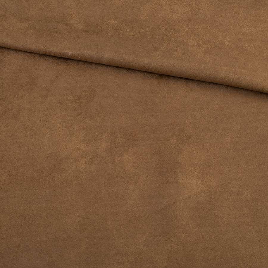 Замша на дайвинге коричневая, ш.150