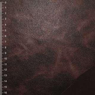 Замша штучна на флісі коричнева темна