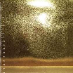 Замша искусственная золотистая штампованная, ш.145