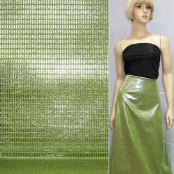Замша искусственная зеленая с серебристыми палочками