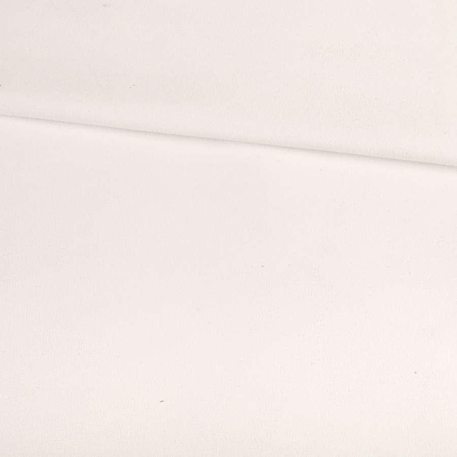 Замша стрейч белая, ш.145
