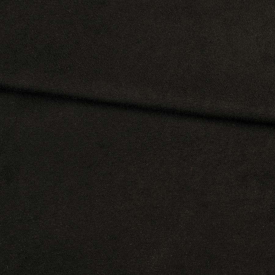 Замша стрейч черная, ш.155