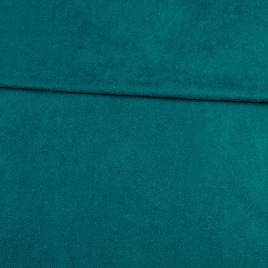 Замша стрейч морская волна, ш.152