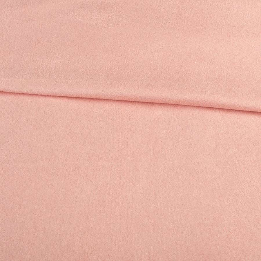 Замша стрейч розовая, ш.150