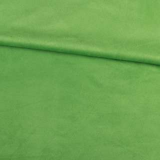 Замша стрейч салатовая, ш.152